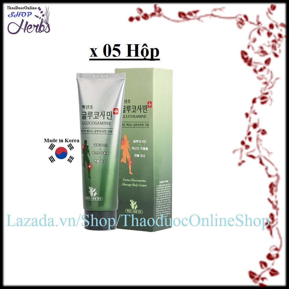 Bộ 5 Dầu Lạnh xoa bóp khớp GLUCOSAMINE Hàn quốc 150ml/hộp nhập khẩu