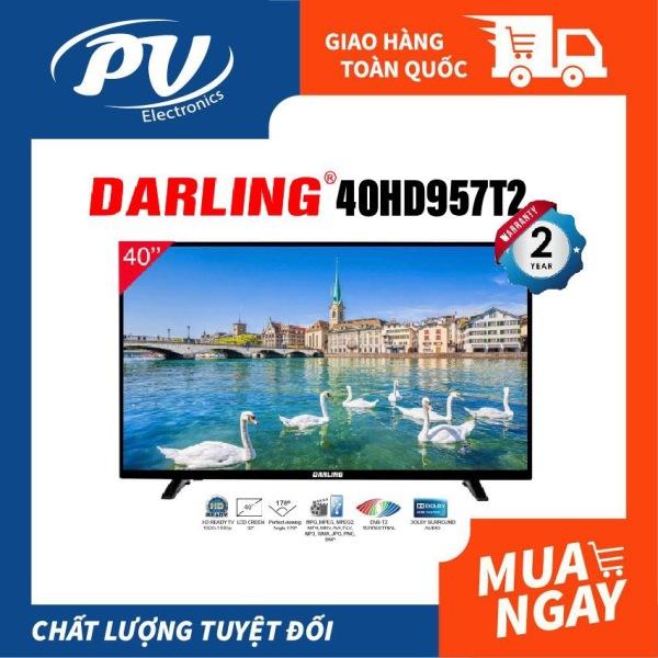 Bảng giá Tivi LED Digital DVB-T2 Darling 40 inch 40HD957T2 (Full HD, Truyền hình kỹ thuật số, Dolby Surround, màu đen) - Tivi giá rẻ - Bảo hành toàn quốc 2 năm