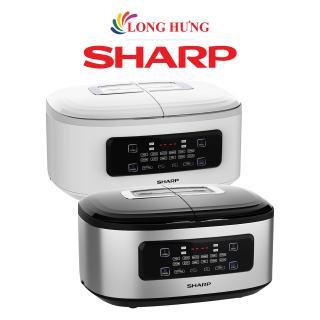 Nồi đôi điện tử đa năng Sharp 1.8 lít KN-TC50VN -Hàng chính hãng - Công suất 700W, lòng nồi chống dính, 4 ngăn nấu, điều khiển cảm ứng, 12 chế độ nấu