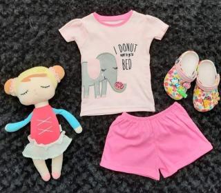 Áo thun ngắn tay cho bé gái được may từ vải cotton xuất dư co giãn 4 chiều, thấm hút mồ hôi tốt cho bé từ sơ sinh đến 11kg thumbnail