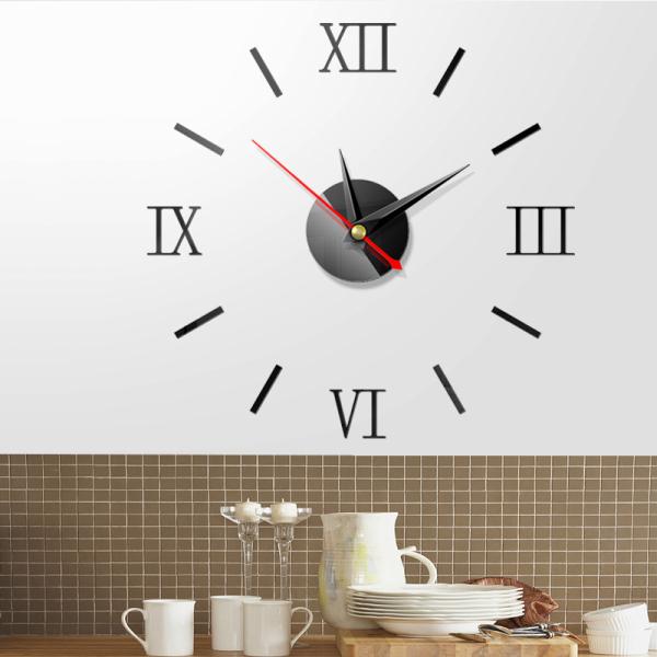 Nơi bán (Tặng PIN) Đồng hồ dán tường số la mã nhỏ 40cm - Đồng hồ trang trí - Đồng hồ treo tường DH26