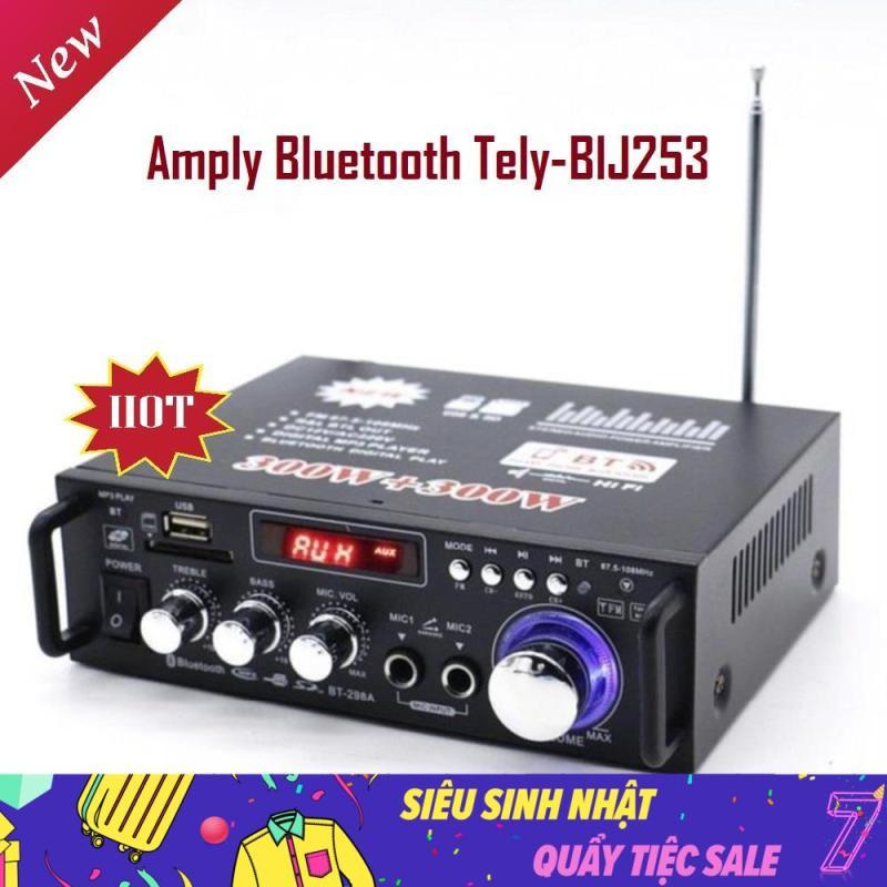 Amply Karaoke BluetoothHitech, Thiết Bị Nhận Bluetooth Cho Loa, Amply Bluetooth Tely-BlJ347, Công Nghệ Bluetooth Tiên Tiến Kết Nối Nhiều Thiết Bị, Hỗ Trợ FM Nghe Nhạc Hay, Thiết Kế Nhỏ Gọn Tay Xách Dễ Di Chuyển - Bảo Hành Uy Tín Lỗi 1 Đổi 1.