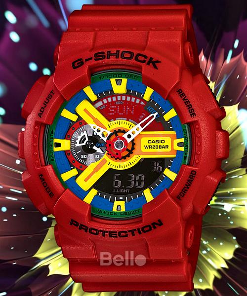 Nơi bán Đồng hồ nam G-SHOCK GA110  (ĐỎ AHGRYBỈRTH ) siêu chống nước + Tặng kèm pin + Bảo hành 6 tháng + BELLO SHOP