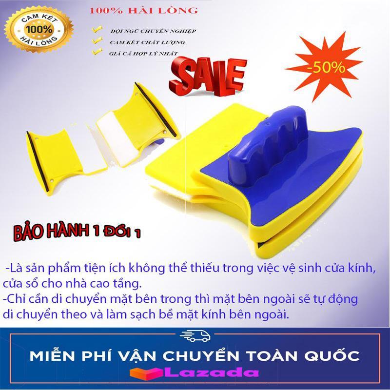 Mua Ngay Dụng Cụ Lau Cửa Kính Double Sided Glass Cleaner, Dụng Cụ Lau Cửa Kính, .Chất Lượng Tuyệt Vời, Lau Mọi Loại Kính Sước Rỉ. Tiện Cho Mọi Việc Lau Kính…( Loại Tốt )  Bảo Hành Uy Tín 1 Đổi 1 Trong 12 Tháng ( Mua Ngay Giảm Giá Đến 50% )