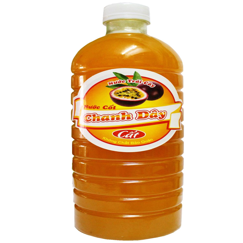 Nước Cốt Chanh Dây  không hạt 1000ml (không chất bảo quản )- Nguồn nguyên liệu sạch từ cao nguyên Lâm Đồng