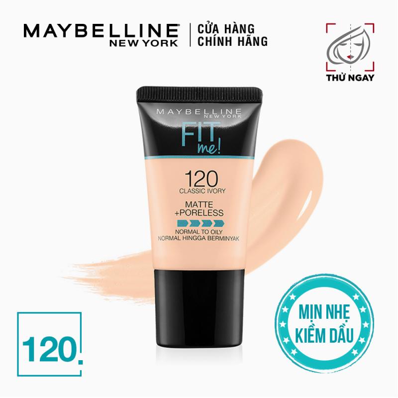 Kem nền mịn lì tự nhiên Maybelline Fit Me Matte Poreless Foundation Tube 18ml
