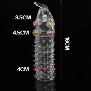 ( che tên ) Bao cao su đôn nam gai vòi, màu trắng - sử dụng nhiều lần - tăng kích thước thumbnail