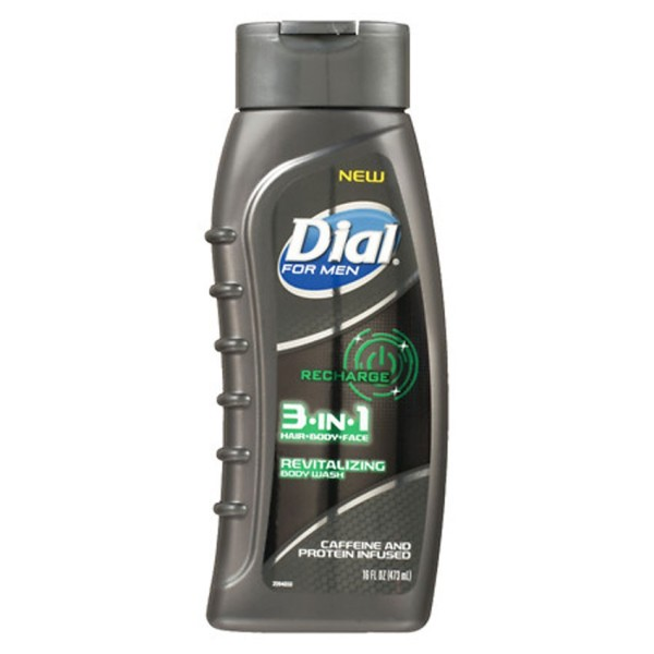 Sữa tắm gội Dial For Men 3in1  Recharge 473ml - USA cao cấp