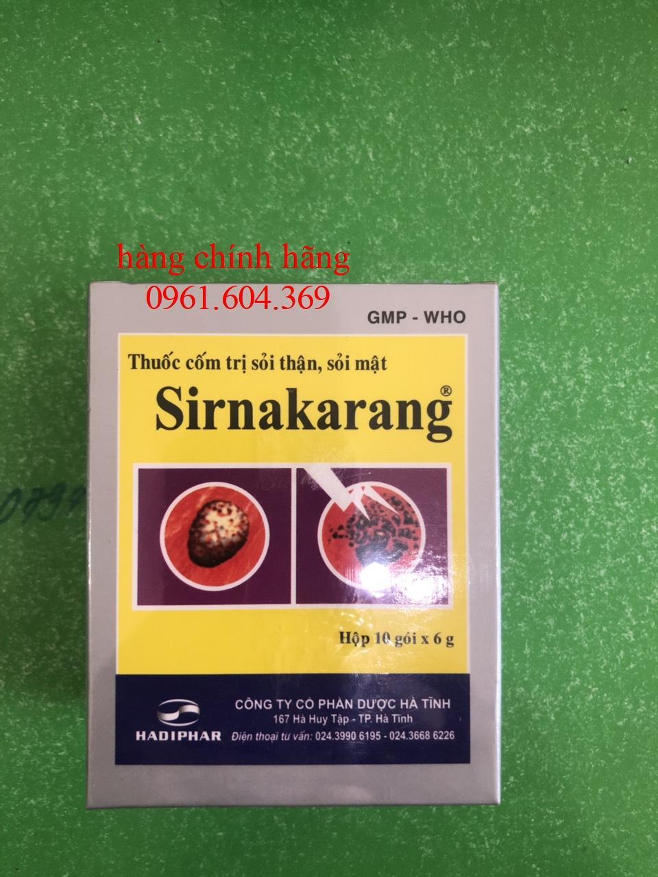 Giá bán Cốm tan sỏi thận Sirnakarang ( Hộp 10 gói )