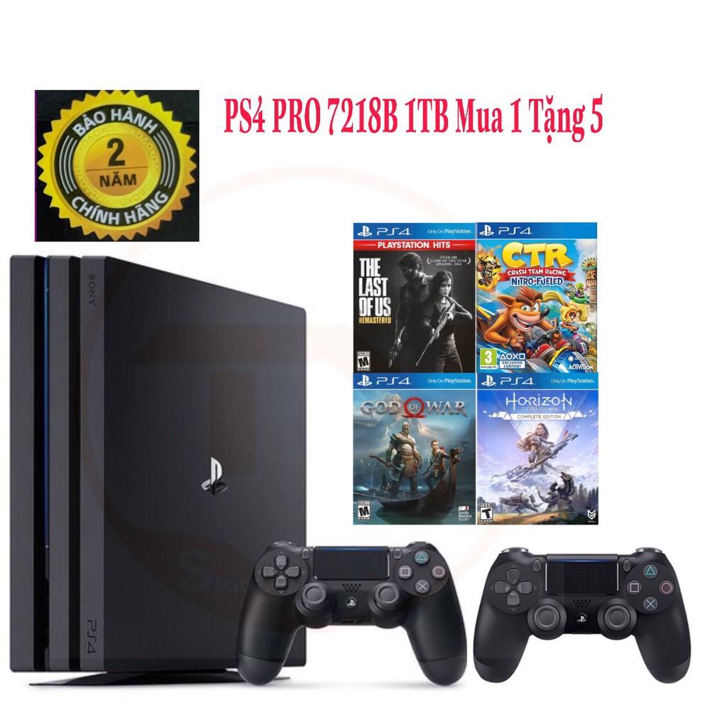 [TRẢ GÓP 0%] Máy Chơi Game Sony PS4 Pro CUH-7218B 1TB - Mua 1 Được 5