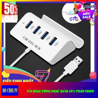 Bộ chia 4 Cổng USB OTG HUB với Dock cho điện thoại thông minh - Máy Tính thumbnail