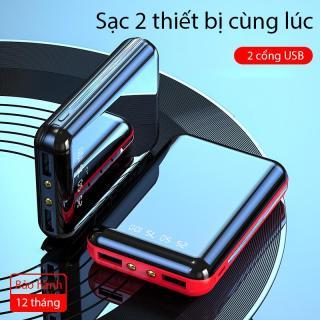 [FREE SHIP] Pin sạc dự phòng A19 dung lượng 5000mAh màn hình Full kính hiển thị lượng pin siêu nhỏ gọn dễ dàng bỏ túi 2 cổng USB 2 đèn pin led thích hợp cho các bạn sử dụng Android thumbnail
