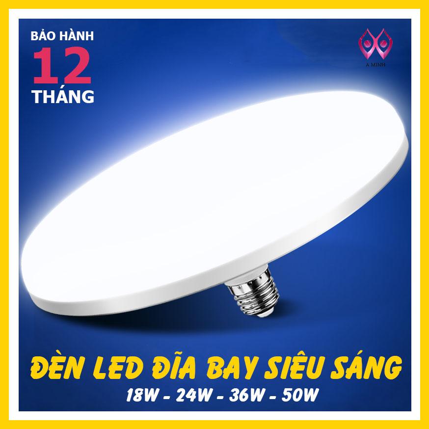 Bóng đèn Led UFO- A minh tiết kiệm điện siêu sáng  (18W24W36W50w)  ánh sáng trắng