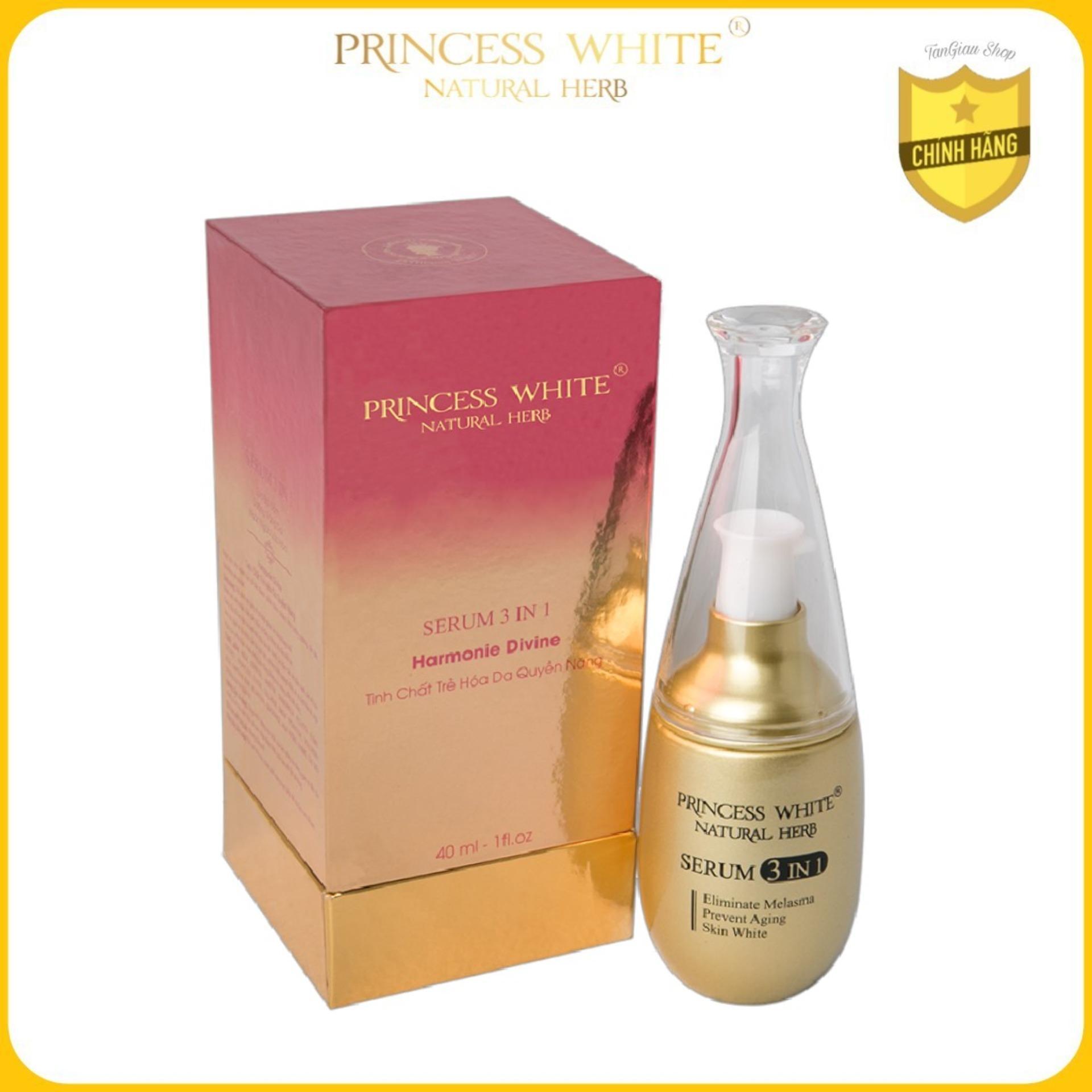 Dưỡng da chuyên sâu, tái tạo da đa chức năng SERUM 3IN1 Princess White - Bí mật trẻ hóa làn da không tuổi/ 40ML nhập khẩu