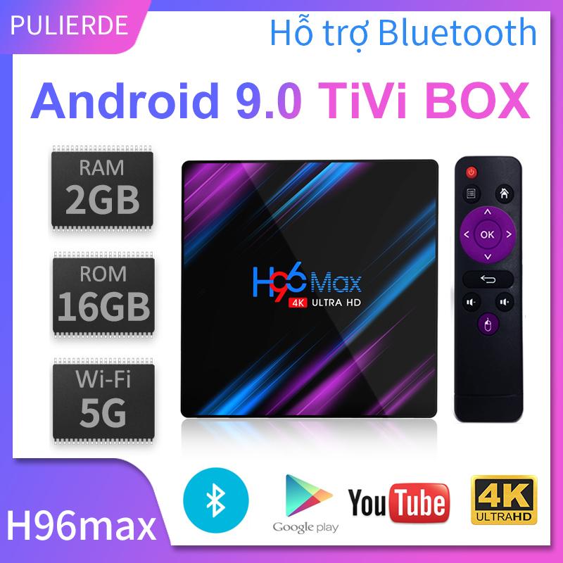 Siêu Giảm Giá Khi Mua [Hot Deal][Hộp TV Thông Minh]Sản Phẩm Mới H96MAX Tivi Box Android 9.0 2GB RAM 16GB ROM 4GB RAM 32GB ROM 64GB 5GHz WIFI Hỗ Trợ Bluetooth 4K Smart Tv Box