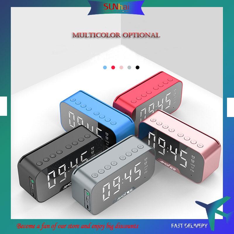 Loa bluetooth không dây Amoi G5 kiêm đồng hồ báo thức màn hình soi gương vỏ kim loại chất lượng đảm bảo cam kết hàng đúng mô tả inbox shop để được tư vấn thêm