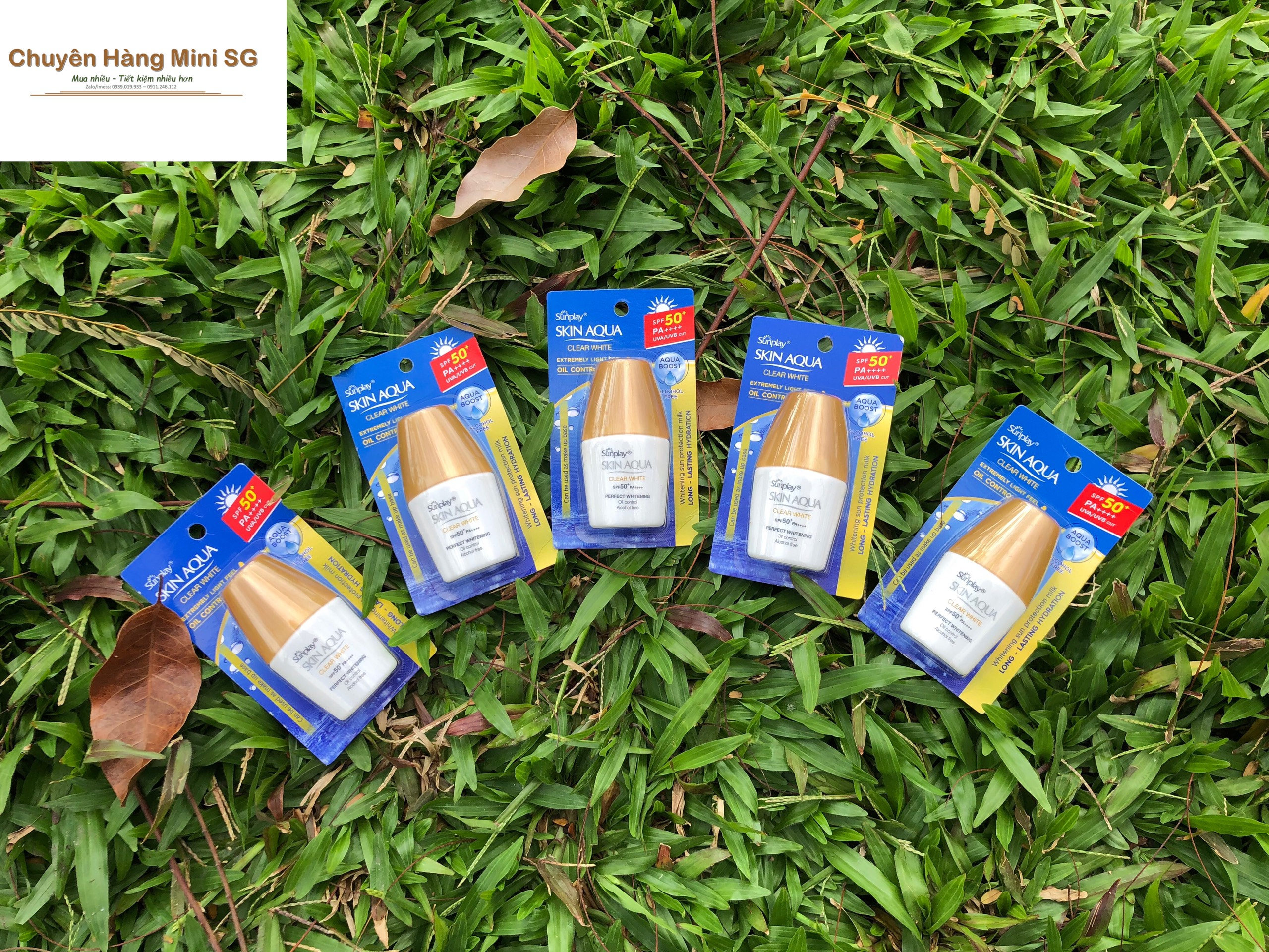 Combo 5 chai kem Sunplay Skin Aqua Clear White SPF 50+ PA++++ 5g nhập khẩu