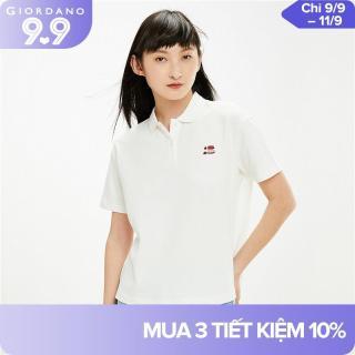 Áo thun có cổ vải pique chi tiết thêu nhỏ tinh tế dành cho nữ thương hiệu quốc tế Giordano 05311381 thumbnail