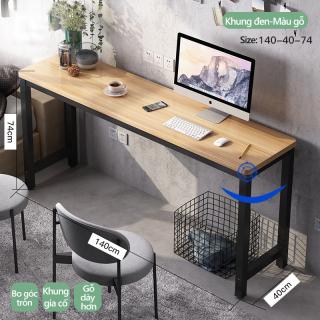 Bàn học bàn máy tính bàn làm việc tại nhà và văn phòng dáng dài kiểu Bắc Âu hiện đại đơn giản thumbnail