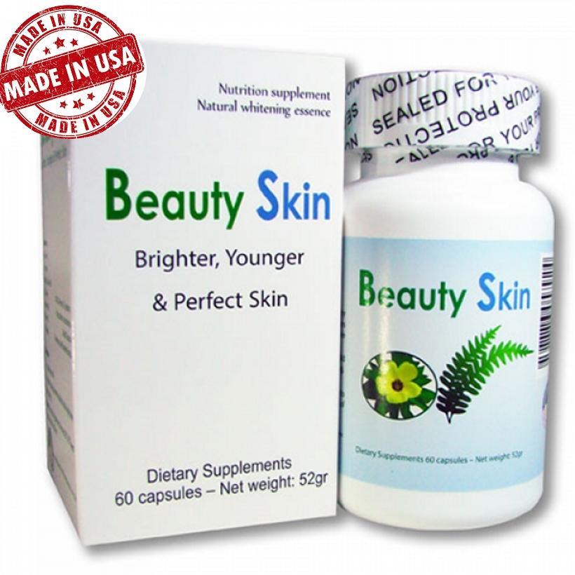 Viên uống trắng da trị nám Beauty Skin USA chính hãng (hộp 60 viên)
