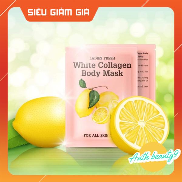 Ủ TRẮNG CHANH White Collagen Body Mask 1 Hộp 3 Gói SIÊU TRẮNG NHANH, BẬT TÔNG CHỈ SAU 1 LIỆU TRÌNH
