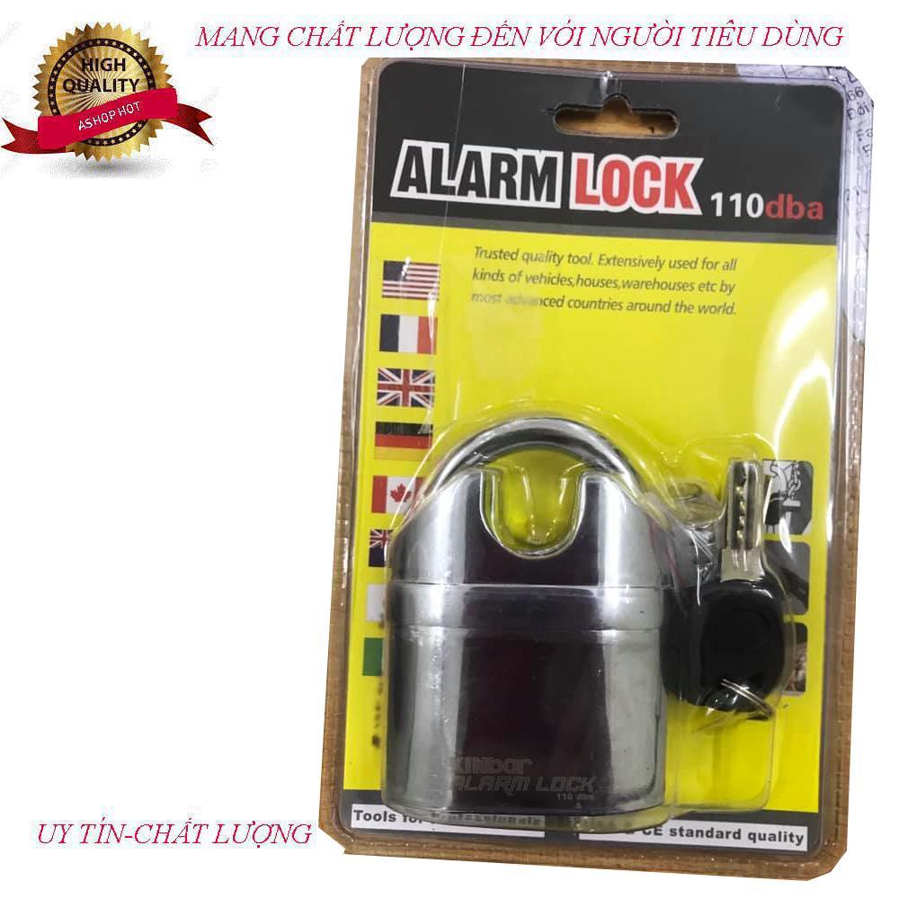 Ổ khóa chống trộm K106W (Chống cắt) có chế độ chuông báo chộm khi bị tác động cắt phá
