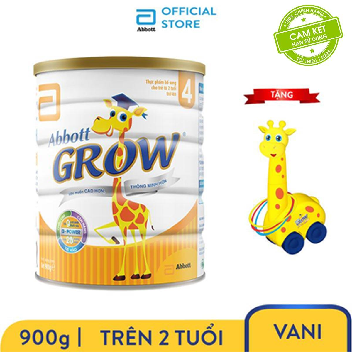 Bộ 1 Lon Sữa Bột Grow 4 900g Tặng Bộ Ném Vòng Hươu Grow Có Giá Siêu Tốt