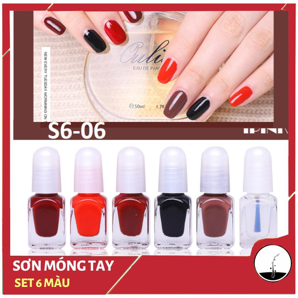 Sơn móng tay lột Mini (bộ 6 lọ) cao cấp OULSI nail polish nhiều màu- SMT005 tốt nhất