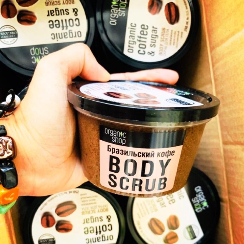 Tẩy Da Chết - Body Cafe Organic Nga