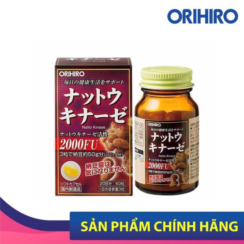 Viên uống Natto Kinase Orihiro Nhật Bản ngăn ngừa tai biến, chống đột quỵ 60 viên/hộp