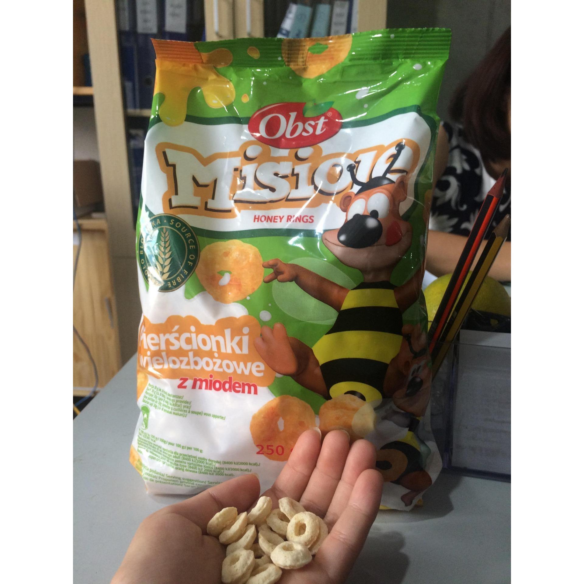 Ngũ cốc ăn sáng OBST Misiole Multigrain Honey Rings 250g