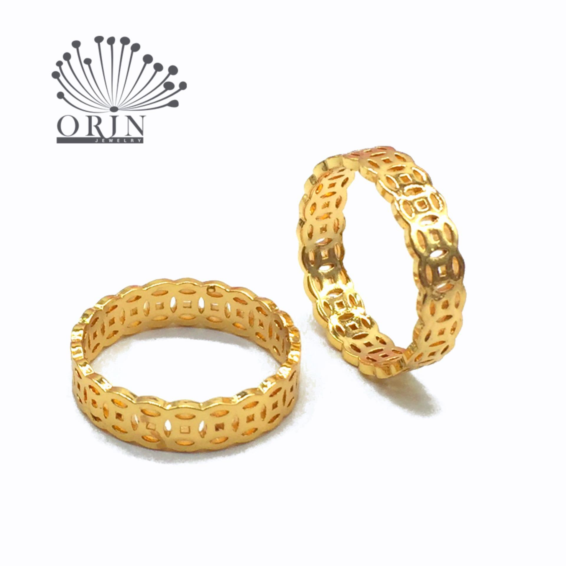Nhẫn nữ kim tiền may mắn tài lộc bền màu thiết kế cao cấp Orin N19 Công nghệ xi mạ độc quyền 5lớp cao cấp