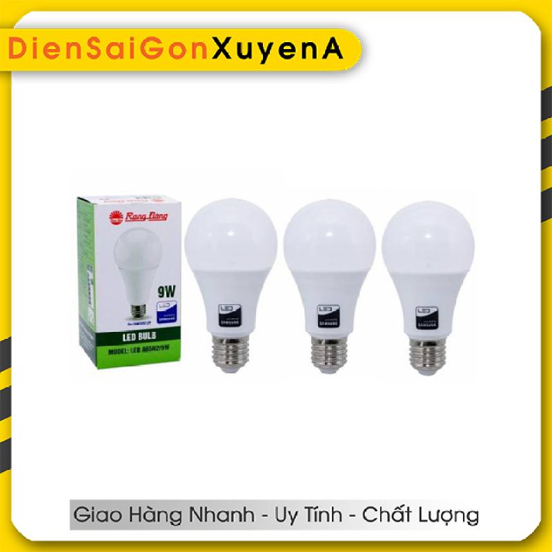 3 Bóng đèn LED Bulb 9W Rạng Đông E27 ChipLed Samsung