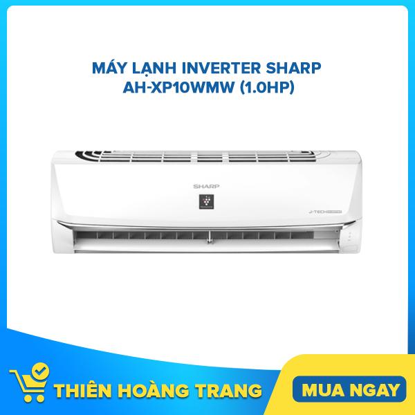 Máy lạnh Sharp Inverter 1 HP AH-XP10WMW - Tặng Bộ Nồi Sharp PR-J03