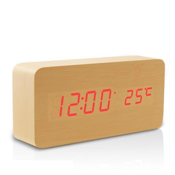 Nơi bán Đồng hồ ĐỂ BÀN (GỖ VÀNG) LED CAO CẤP (TẶNG DÂY CÁP) ĐỒNG HỒ để bàn điện tử DH003