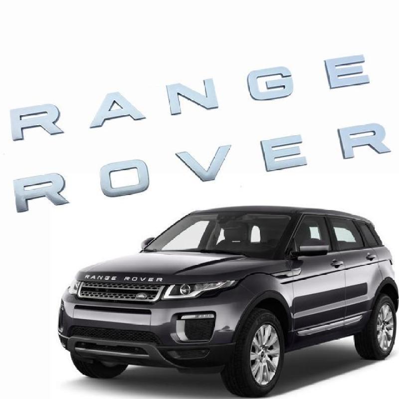 Tem RANGE ROVER chữ nổi 3D trang trí xe hơi 4 màu sang trọng