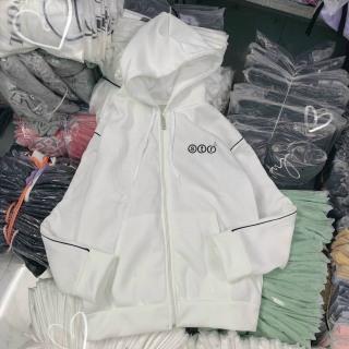 Áo khoác STR viền tay chất nỉ Pe dày dặn xịn xò, áo khoác chống nắng có nón và dây kéo khóa tiện lợi. thumbnail