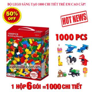 Hộp LEGO Classic sáng tạo, Bộ Đồ Chơi Xây Dựng, BỘ LEGO SÁNG TẠO 1000 CHI TIẾT, an toàn cho bé, giúp trẻ phát triển trí thông minh bảo hành 12 tháng thumbnail