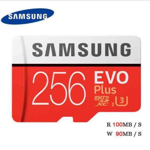 [Bán Lỗ]  Thẻ nhớ MicroSDXC  Samsung Plus 256GB Box Anh U3 4K R100MB/s W90 MB/s New 2020 (Đỏ) - Tốc độ Class 10