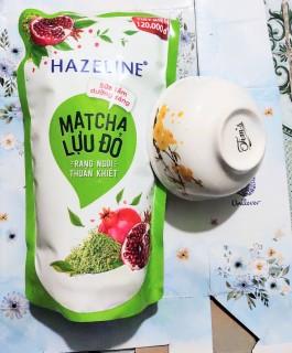 (tặng chén) sữa tắm hazeline matcha lựu đỏ túi 1kg thumbnail