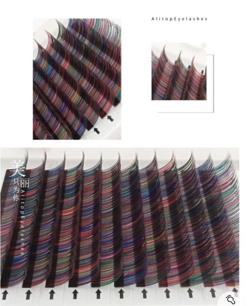 [HCM]Mi giả dùng để nối mi Khay mix Mix màu có từ size : 8mm -  12mm giá rẻ