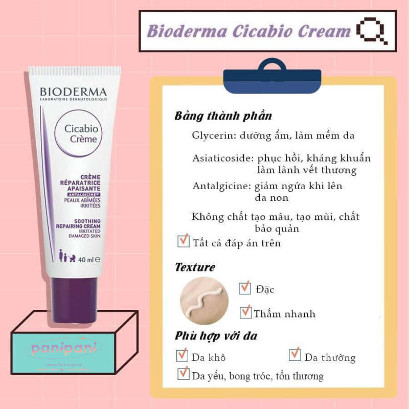 [100% AUTH] Kem Dưỡng Cấp Ẩm Phục Hồi Da Chứa B5 Bio-Cicabio Cream 40ML giá rẻ