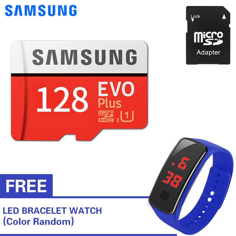 Thẻ nhớ Micro SDXC Samsung EVO Plus 128GB 100MB/s với Đồng hồ LED miễn phí