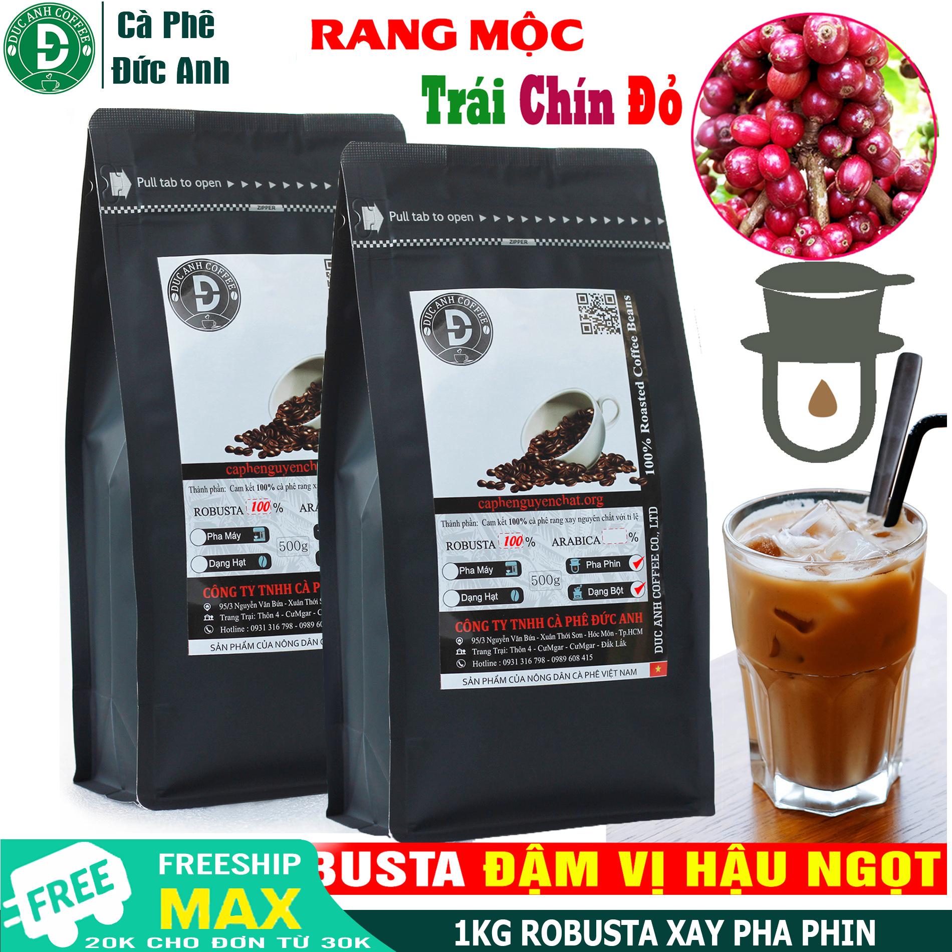 [HCM]1kg Cà Phê Rang Mộc Thượng Hạng nguyên chất 100% - đặc tính đậm mạnh hậu ngọt - cà phê rang xay dùng pha phin - Thương hiệu cà phê rang mộc DUC ANH COFFEE - Sản phẩm trực tiếp từ nông trại - cà phê Đức Anh