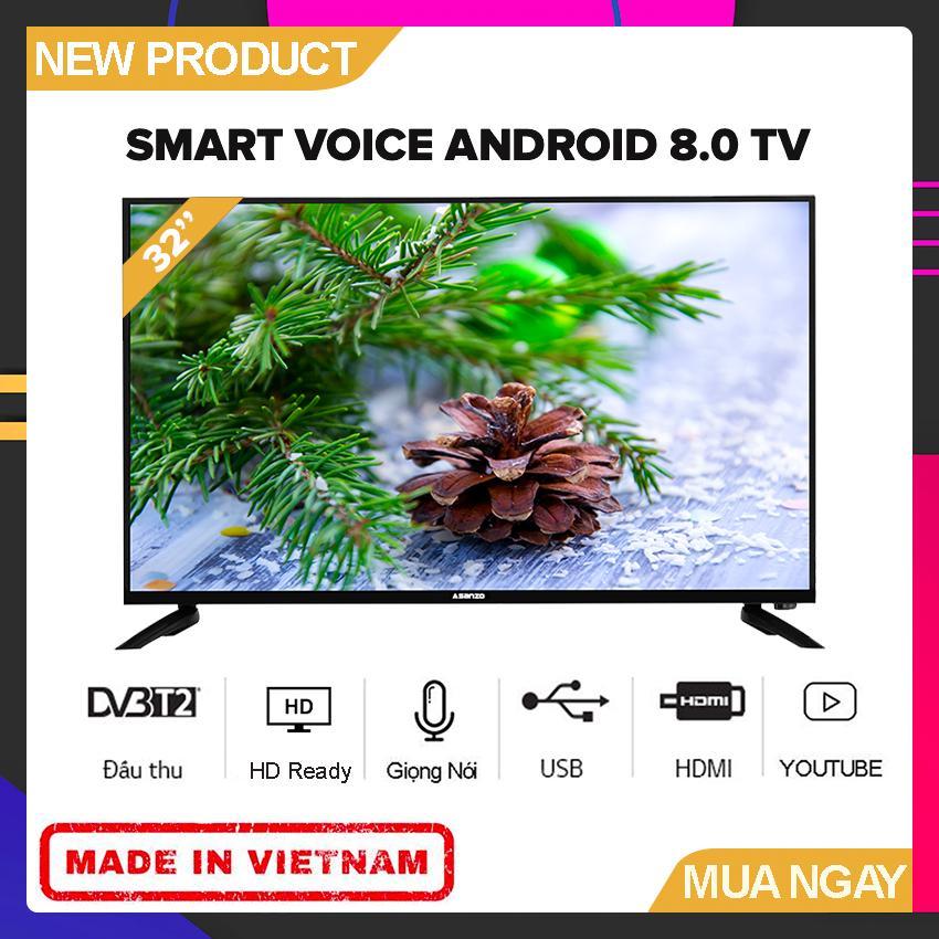 Bảng giá Smart Voice Tivi Asanzo 32 inch HD ISLIM - Model 32SL500 (HD Ready, Android 8.0, Tìm Kiếm Giọng Nói, Kết Nối Điện Thoại, Viền Kim Loại, Khắc Phục Lỗi Youtube) - Bảo Hành 2 Năm