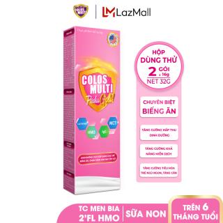 [HỘP DÙNG THỬ] Sữa bột chuyên biệt cho trẻ biếng ăn, chậm cân Mama Sữa Non Colos Multi Pedia Gold hô p 2 go i x 16g thumbnail