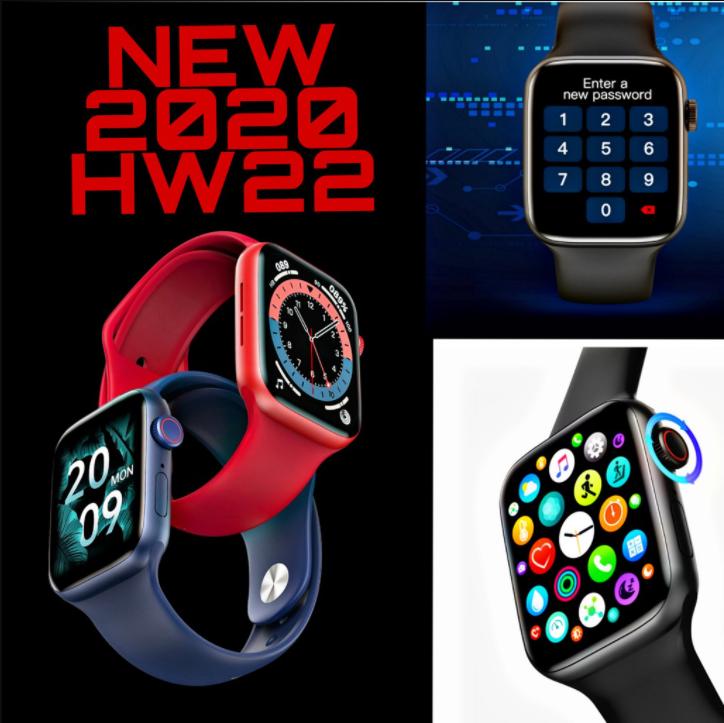 Đồng Hồ Thông Minh Bluetooth Hw22 Seri 6 Mẫu Mới Nhất 2021 Có Tiếng Việt,Thay Được Nhiều Mặt,Nghe Gọi Nhắn Tin Trực Tiếp,Chống Thấm Nước và Chống Bụi, Màn hình cảm ứng,Theo Dõi Sức Khỏe Đo Nhịp Tim,Huyết Áp,Giấc Ngủ,,,