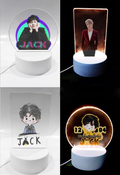 Đèn Led 3D jack DLI25 Đèn Ngủ j97 3D Sáng Tạo cute dễ thương
