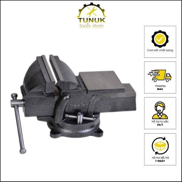 Ê tô bàn nguội cơ khí xoay 360 độ TUNUK, độ mở 7.5cm  và 10cm , được đúc bằng hợp kim nguyên khối,  tặng quà 15k
