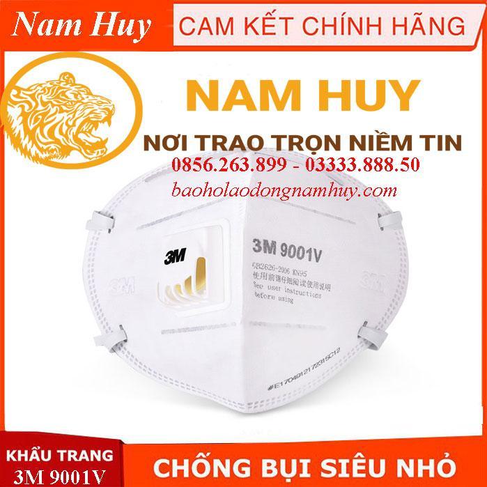 Bộ 25 khẩu trang 3M 9001V chống bụi pm2.5, khẩu trang kháng khuẩn siêu vi, ngăn mùi hôi